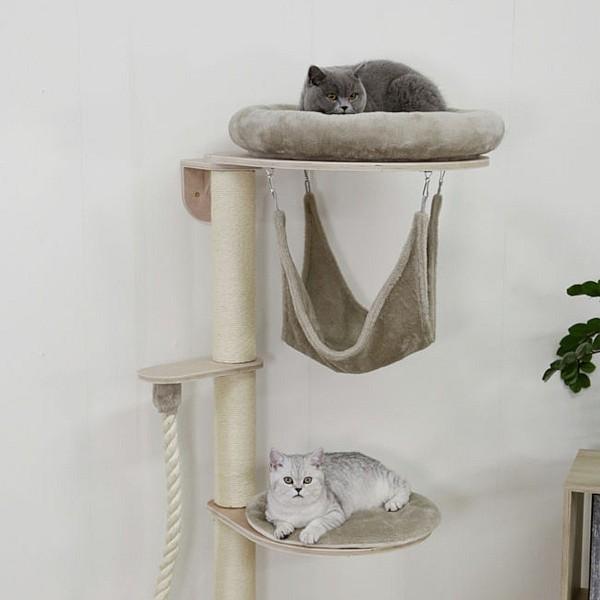 Wall Cat Tree Dolomit Grappa 80x53xh204 taupe