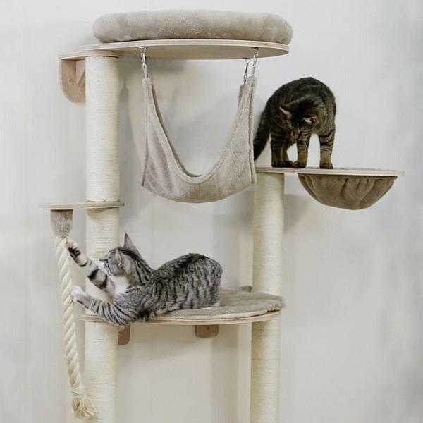 Wall Cat Tree Dolomit Grappa Pro 70x50x138, taupe