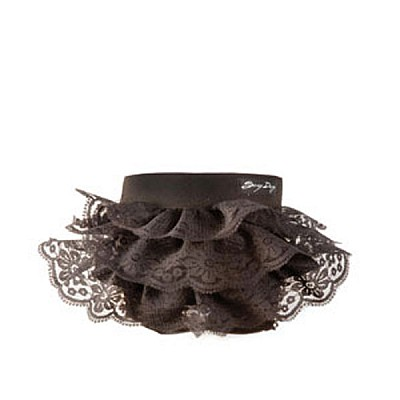 Hygienic belts with black laces ruffles 30-34cm