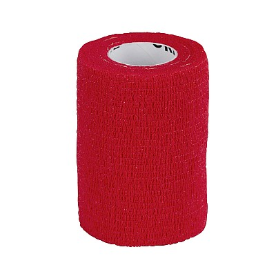 Cohesive Bandage EquiLastic Width 7,5cm Red