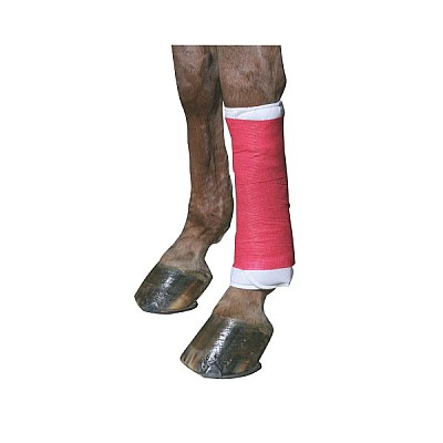 Cohesive Bandage EquiLastic Width 10,0cm Red