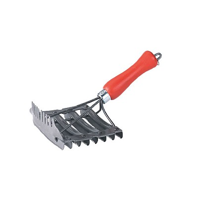 Metal Currycomb with Mane Comb Length 12cm Width 12.5cm
