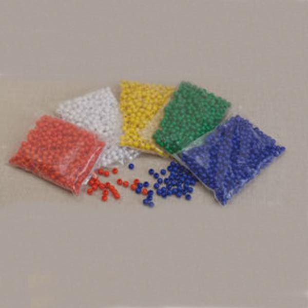 Πλαστικές Χάντρες 10 Τεμάχια Μπλέ
