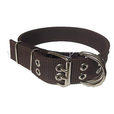 Extra Strong Double Dog Collar4Χ73cm Brown