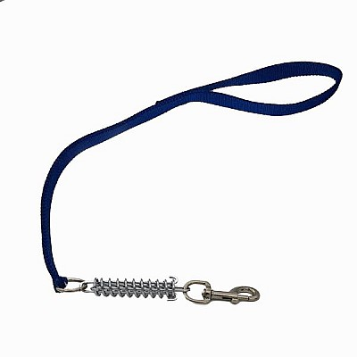 Double Leash With Spring  2,5x100cm Blue