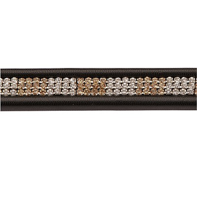 """Browband with Rhinestones  """"Gold and Silver"""", full"""