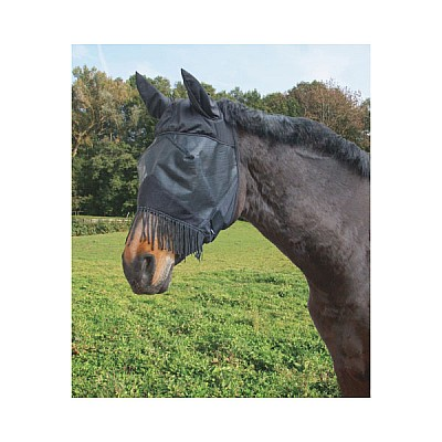 Fly Mask With Ear Protector And Nostril Cord Thoroughbred