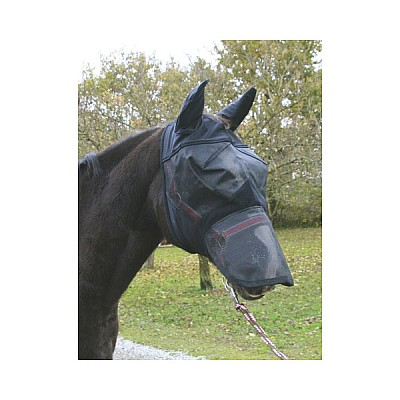 Fly Mask With Ear And Nose Protection Thoroughbred