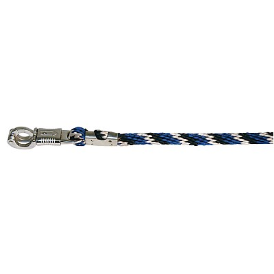 Tie Rope Mustang 200 cm With Panic-Hook Blue/Black/White