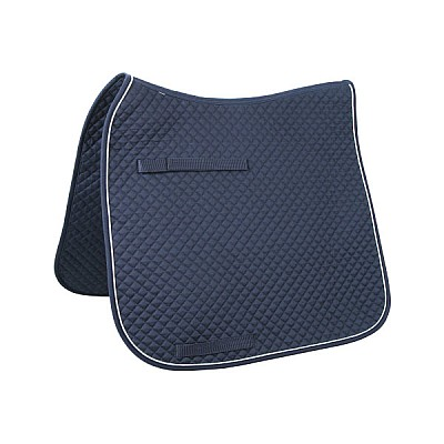 Saddle Cloth Classic Dressage Color Navy / Silver / Navy