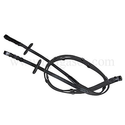 English Leather Dressage Reins full