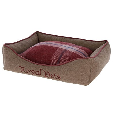 Cosy Bed Royal Pets 50x40x15cm, brown/red 80380