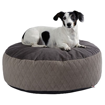 Bed Cushion Pouf, Ø 80 x 25cm, taupe / brown 80393