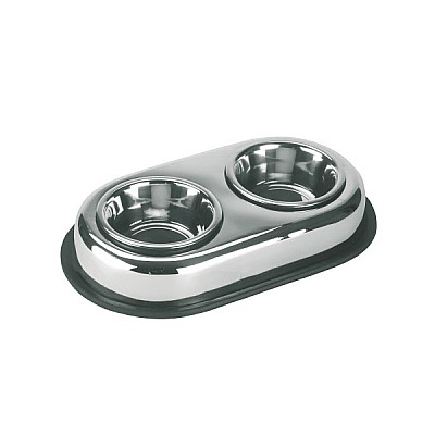 Stainless Steel Bowl Duo 2x450 ml
