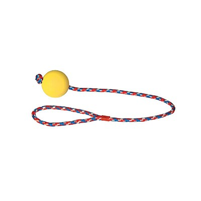 Foam Rubber Ball with Rope 6cm