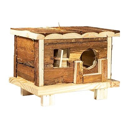 Hamster wooden house 18 x 13 x H13,5 cm.