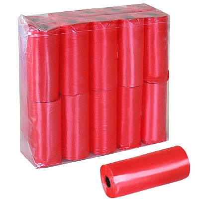dog waste bags RED