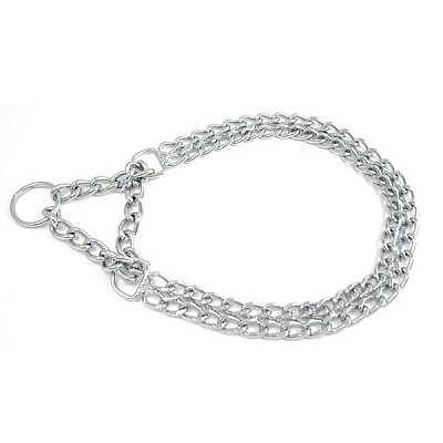 Double Chain Collar with Martingale 45 cm